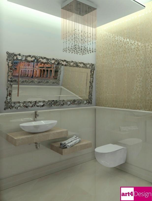 projekt łazienki  glamour bielsko